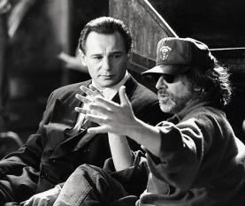 Schindler's List (1993) Directed by Steven Spielberg Shown from left: Liam Neeson, Director Steven Spielberg